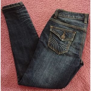 Blue Fade Out Design Rampage Skinny Jeans